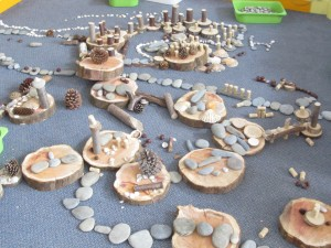 Example of using natural materials in early years education